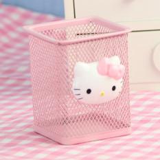 Ulasan Lengkap Tentang Hello Kitty Imut Besi Tempa Alat Tulis Kotak Penyimpanan Tempat Pensil