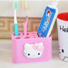 Hello Kitty Peralatan Mandi Kotak Penyimpanan Hello Kitty Sikat Gigi Set Kursi Rak Sikat Gigi
