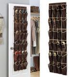 Jual Hengsong Store Door Hanging Shoe Storage Bag Brown 24 Grid Sorting Wardrobe New Non Woven Brown Intl Hengsong Online