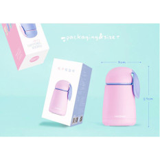 Review Hengsong Siswa Isolasi Cup 304 Stainless Steel Vacuum Cup Cute Kartun Fashion Colorful Mug Ungu Intl Hengsong