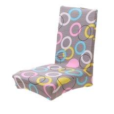 Hequ Hot Sale Fashion Aneka Pola Rumah Tangga Antifouling Removable Stretch Elastic Slipcovers Ruang Makan Pendek Stool Kursi Sarung Kursi H16 -Intl