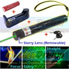 Harga High Power Green Laser Pointer 303 Sinar Hijau Bakar Burning Focus Api Terbaru