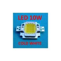 High Power LED 10W Putih / Cold White (6000 - 6500K) 9.5V - 12V