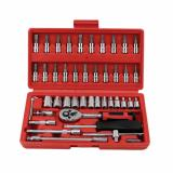 Jual High Quality 46 In 1 Household And Car Auto Repair Tool Ratchet Wrench Set Toolbox Import