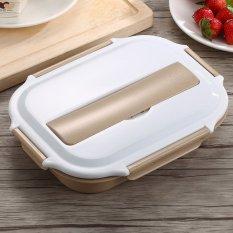 Tinggi Kualitas Hirarki Lunch Box Alat Makan Bento Box Set Indah dengan Gratis COOLER BAG untuk Orang Dewasa Anak-Intl