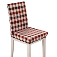 Tinggi Kualitas Baru Kopi Kisi Chaircase Removable Stretch Penutup Kursi Seat Covers Antifouling Spandex untuk Rumah Hotel Kantor