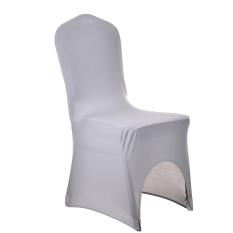 Tinggi Kualitas Promosi Grey Chaircase Removable Penutup Kursi Sarung Kursi Polyester untuk Hotel Perjamuan-Intl