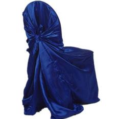 Tinggi Kualitas Promosi Baru Sapphireblue Kursi Case Protector Removable Penutup Kursi Protector Seat Covers Spandex untuk Makan Hotel Banquet- INTL