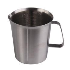 Jual High Quality Stainless Steel Milk Measuring Cup Coffee Frothing Jug 1000Ml Oem Asli