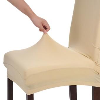 Tinggi Kualitas Stretch Removable Bisa Dicuci Pendek Sarung Kursi Makan Lembut Susu Sutra Spandex Sarung Kursi