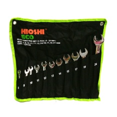 HIOSHI ECO 11 pcs Combination Wrench set / Kunci Ring Pas set11 pcs