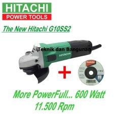 Hitachi Mesin Gerinda Tangan G10SS2 + 1pcs Batu Gerinda Makita