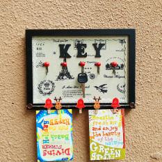 Kunci Hitam Pintu Masuk Rak Gantung Topi dan Baju Kunci Gantungan Dinding