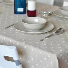HKS Promosi 100*150 Taplak Meja Linen Gaibu Sen Departemen Pettydaisy Lace Linen Taplak Meja-Intl