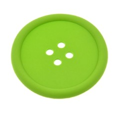 HKS Silikon Coffee Placemat Tombol Coaster Cangkir Mug Kaca Beverageholder Mat Pads Taplak Kopi Ramah Lingkungan Hijau-Intl