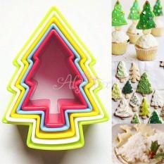 HL 5 Pcs Fondant Cutter Cake Pohon Natal Cetakan Biskuit Cookiegingerbread Pria-Intl
