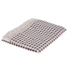 HL Cotton & A MP; Linen Taplak Meja Rectangle Debu-bukti Tableclothcoffee Meja Makan Cover untuk Rumah/Restoran 100*140 Cm