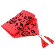 Hi Kumpulan Bunga Putih Kain TAF Retro Dekoratif Di Tempat Tidur Pernikahan Taplak Meja Kain Merah
