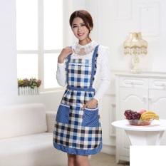 Hi Saku Tahan Air Fashion Desain Bergaya Klasik Dapur Memasak (tema Kotak-kotak 7 Lsdgz)