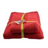 Harga Hm Paket Murah 2 Pcs Handuk Merah Putih 2 Ukuran Handuk Murah Handuk Dewasa Handuk Anak Terry Palmer