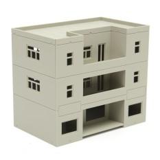 HO Skala Bangunan (Gedung Apartemen) 1:100 untuk HO Gauge Model Kereta B-Intl