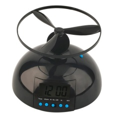 Hogakeji Pwaca Terbang Jam Alarm (hitam, ABS, Alarm Clock 14*6 Cm, Propeller Diameter 14 Cm, Jam Alarm * 1, Propeller * 1, Gempa Spons * 1) -Intl