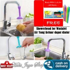 HOKI COD - Sambungan Kran Air Flexible Silicone Water Spray Hemat Air + Gratis Pulpen Lilin Unik Serba Guna Hitam Pekat - 1 Pcs