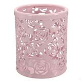 Jual Hollow Mawar Bunga Pola Silinder Pena Pensil Pot Pemegang Wadah Organizer Merah Muda Intl Original