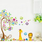 Spesifikasi Home Decor Wallsticker Stiker Dinding Jm7251 Owl And Animal Tree Terbaik