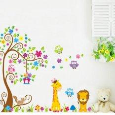 Spesifikasi Home Decor Wallsticker Stiker Dinding Jm7251 Owl And Animal Tree Dan Harga