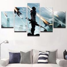 Dekorasi Rumah Lukisan Kanvas 5 Panel Tanpa Bingkai Medan Perang Soldier Gambar untuk Bedroom Wall Art Game Poster-Intl