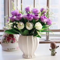 Spesifikasi Mimosifolia Ruang Tamu Bunga Buatan Hias Pernikahan Dihiasi Kamar Tidur Hangat Dekorasi Bunga Rose Set Vas Intl Online