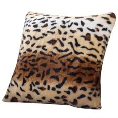 Home Decorative Pola Kulit Hewan Tiger Cat Cow Leopard Soft Fleece Murah Sofa Car Faux Fur Cushion Cover Melempar Bantal Case-Intl