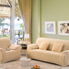 Jual Perabot Rumah Kursi Empuk Sofa 1 2 3 Sofa Peregangan Melindungi Penutup Sofa Krem 2 Penumpang Termurah