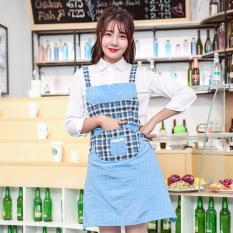 Spesifikasi Mimosifolia Dapur Rumah Tangga Membersihkan Pakaian Pelindung Masak Celemek Katun Celemek Keseluruhan Biru Intl Online