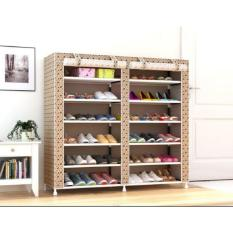 Ulasan Tentang Home Klik Shoe Rack 12 Layers With Dust Cover Motif Coklat New