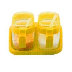 Kualitas Home Klik Tempat Bumbu Gelas Segi Set 2 Buah Dan Rak Orange Tg2202 Home Klik