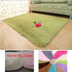 Jual Home Living Room Bedroom Plush Carpet Shag Rugs And Carpets Undercoat Carpet 160Cm By 230Cm Light Green Intl Oem Original