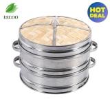 Jual Home Living Specialty Cookware 8 2 Tiers Makanan Bambu Steamer Keranjang Rice Pasta Cooker Dengan Tutup Internasional Ori