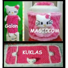 HOME SET Hemat 3 In 1 GKM ( Sarung Galon, Sarung Kulkas,Sarung Mejikom / Magic com / Rice cooker ) HELLO KITTY Pink Berkualitas,