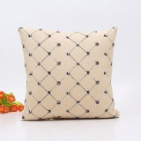 Beli Home Sofa Bed Decor Plaids Throw Pillow Case Square Cushion Cover Beige Intl Terbaru