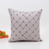 Diskon Sofa Bed Rumah Dekorasi Plaids Bantal Bantal Case Square Cushion Cover Grey Intl Oem Di Tiongkok