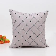Toko Sofa Bed Rumah Dekorasi Plaids Bantal Bantal Case Square Cushion Cover Grey Intl Terdekat