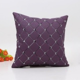 Beli Sofa Bed Rumah Dekorasi Plaids Bantal Bantal Case Square Cushion Cover Ungu Kredit