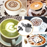 Promo Home Stainless Steel Manual Milk Frother Double Mesh Coffee Cappuccino Foamer Creamer 800Ml Intl Di Tiongkok