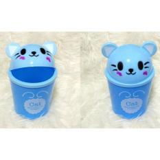 Homedepot Tempat Sampah / Tong Sampah Mini Karakter Cat - Blue