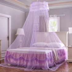 Ulasan Lengkap Honana Wx M01 Ceiling Kelambu Elegan Romantis Round Dome Gantung Tirai Renda Bed Canopy