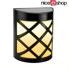 Honful Lampu Surya 6 LED Pagar Dinding Waterproof Lamp dengan Sensor Cahaya untuk Outdoor Garden Porch Patio Lampu Putih Hangat (1 Pack)