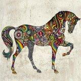 Horse Large Wall Art Decal Vinyl Sticker Untuk Kamar Tidur Atau Ruang Tamu Internasional None Diskon