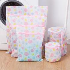 Hossen 5 Pcs Dicetak Menebal Pakaian Cuci Tas untuk Mesin Cuci Pakaian Pelindung Laundry Tas Spesifikasi: 5 Sets-Internasional